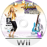 Hannah Montana: Spotlight World Tour Wii disc (RHQP4Q)