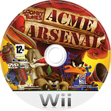Looney Tunes: Acme Arsenal Wii disc (RLYPWR)