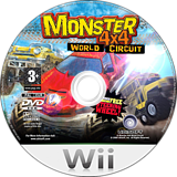 Monster 4x4: World Circuit Wii disc (RM4P41)