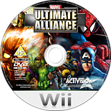 Marvel: Ultimate Alliance Wii disc (RMUP52)