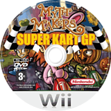 Myth Makers: Super Kart GP Wii disc (RMYPUG)