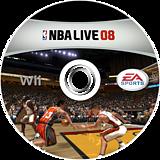 NBA Live 08 Wii disc (RNBX69)
