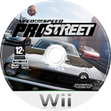 Need for Speed: ProStreet Wii disc (RNPX69)