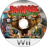 Rampage: Total Destruction Wii disc (RPGP5D)