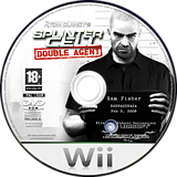 Tom Clancy's Splinter Cell: Double Agent Wii disc (RTCP41)