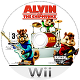 Alvin and the Chipmunks Wii disc (RVBPRS)