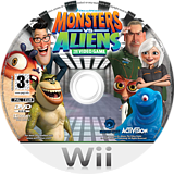 Monsters vs. Aliens Wii disc (RVZP52)