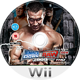 WWE SmackDown vs. Raw 2009 Wii disc (RW9X78)