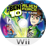 Ben 10: Alien Force Wii disc (RWTPG9)