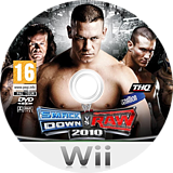 WWE SmackDown vs. Raw 2010 Wii disc (RXAP78)