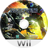 Transformers: Revenge of the Fallen Wii disc (RXIP52)