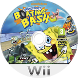 SpongeBob's Boating Bash Wii disc (SBVS78)