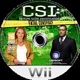 CSI:Fatal Conspiracy Wii disc (SCIP41)