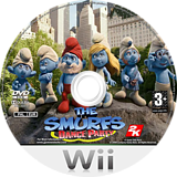 The Smurfs: Dance Party Wii disc (SDUP41)