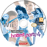 Dance Dance Revolution: Hottest Party 4 Wii disc (SDYPA4)