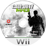 Call of Duty: Modern Warfare 3 Wii disc (SM8D52)