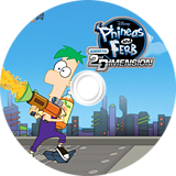 Phineas and Ferb: Across the 2nd Dimension Wii disc (SMFP4Q)
