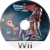 WWE SmackDown vs. Raw 2011 Wii disc (SMRP78)