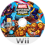 Marvel Super Hero Squad: Comic Combat Wii disc (SMZP78)