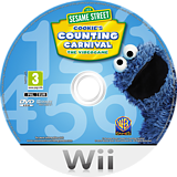 Sesame Street: Cookie's Counting Carnival Wii disc (SS4UWR)