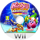 Kirby's Adventure Wii Wii disc (SUKP01)