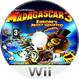 Madagascar 3: Europe's Most Wanted Wii disc (SV3PAF)