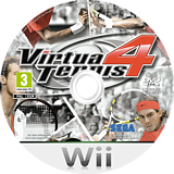 Virtua Tennis 4 Wii disc (SV4P8P)