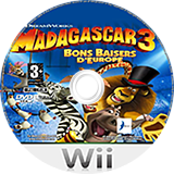 Madagascar 3:Bons baisers d'Europe disque Wii (SV3PAF)