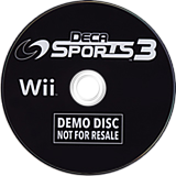 Deca Sports 3 (Demo) Wii disc (D3DE18)
