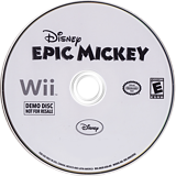 Disney Epic Mickey (Demo) Wii disc (DASE4Q)