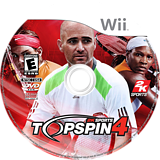 Top Spin 4 Wii disc (R28E54)