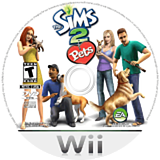 The Sims 2: Pets Wii disc (R4PE69)