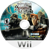 Mortimer Beckett and the Secrets of Spooky Manor Wii disc (R5SERW)