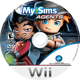 MySims Agents Wii disc (R6QE69)