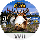 Cabela's Big Game Hunter Wii disc (RCBE52)