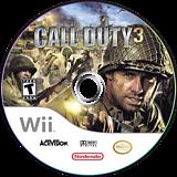 Call of Duty 3 Wii disc (RCDE52)