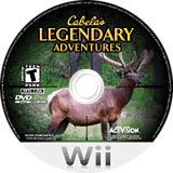 Cabela's Legendary Adventures Wii disc (RCUE52)