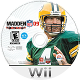 Madden NFL 09 All-Play Wii disc (RFLE69)
