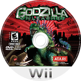 Godzilla Unleashed Wii disc (RGZE70)