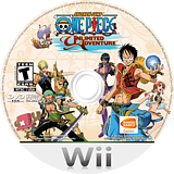One Piece: Unlimited Adventure Wii disc (RIPEAF)