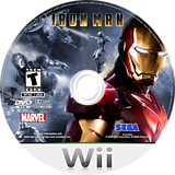 Iron Man Wii disc (RIRE8P)