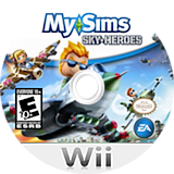 MySims Sky Heroes Wii disc (RJ6E69)