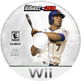 Major League Baseball 2K8 Wii disc (RK8E54)
