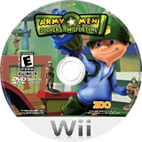Army Men: Soldiers of Misfortune Wii disc (RKYE20)