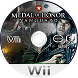 Medal of Honor: Vanguard Wii disc (RMVE69)