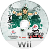 NCAA Football 09 Wii disc (RNAE69)