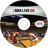 NBA Live 08 Wii disc (RNBE69)
