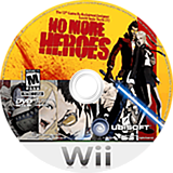 No More Heroes Wii disc (RNHE41)