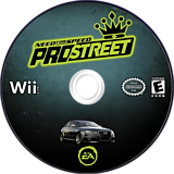 Need for Speed: ProStreet Wii disc (RNPE69)
