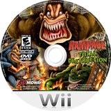 Rampage: Total Destruction Wii disc (RPGE5D)